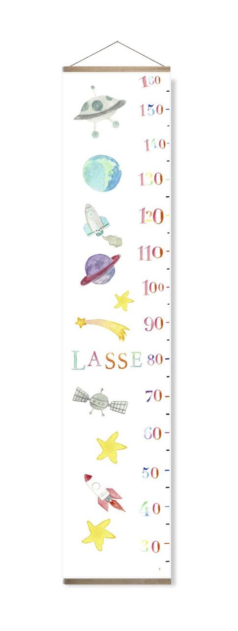 Messlatte Einhorn mit Namen und passende Posterleiste