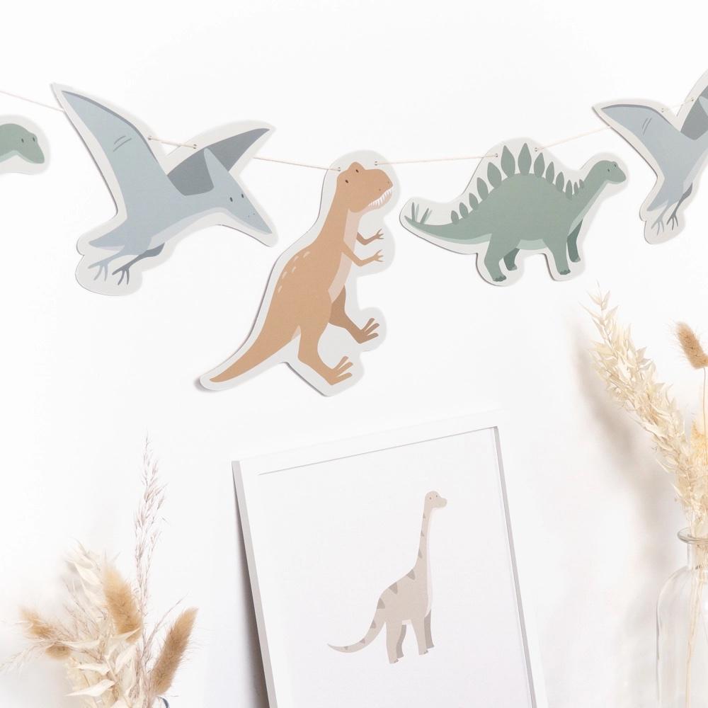 "Girlande Kindergeburtstag ""Dinosaurier"""