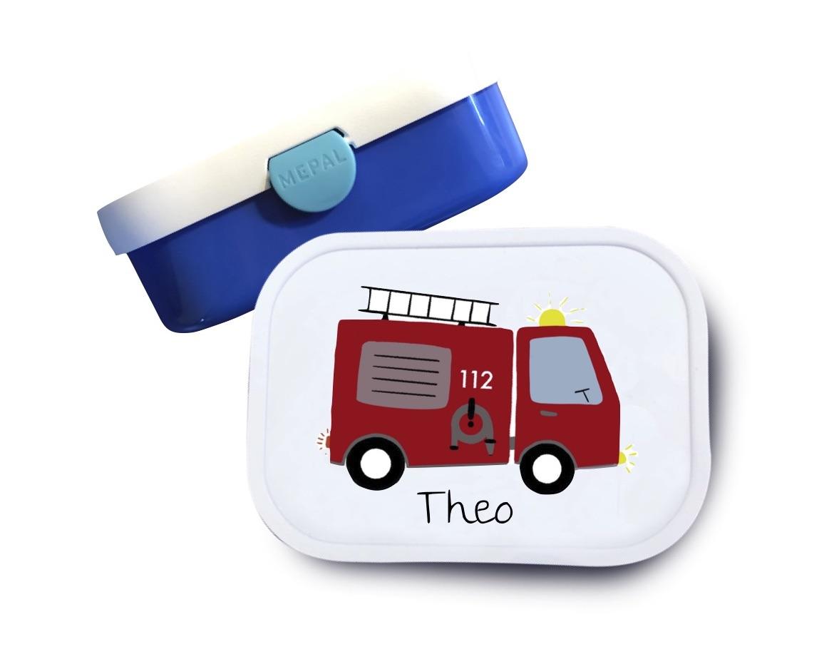 Brotdose mit Namen Feuerwehr Theo