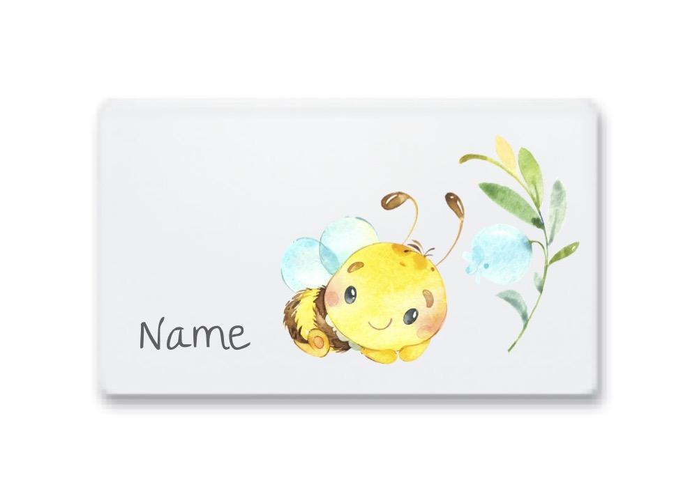 Kindergeschirr mit Namen Biene