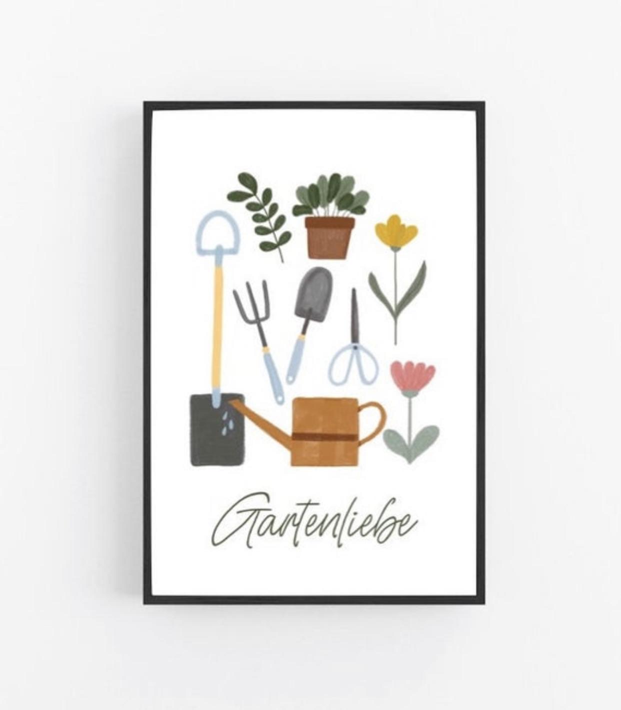 Poster Gartenliebe