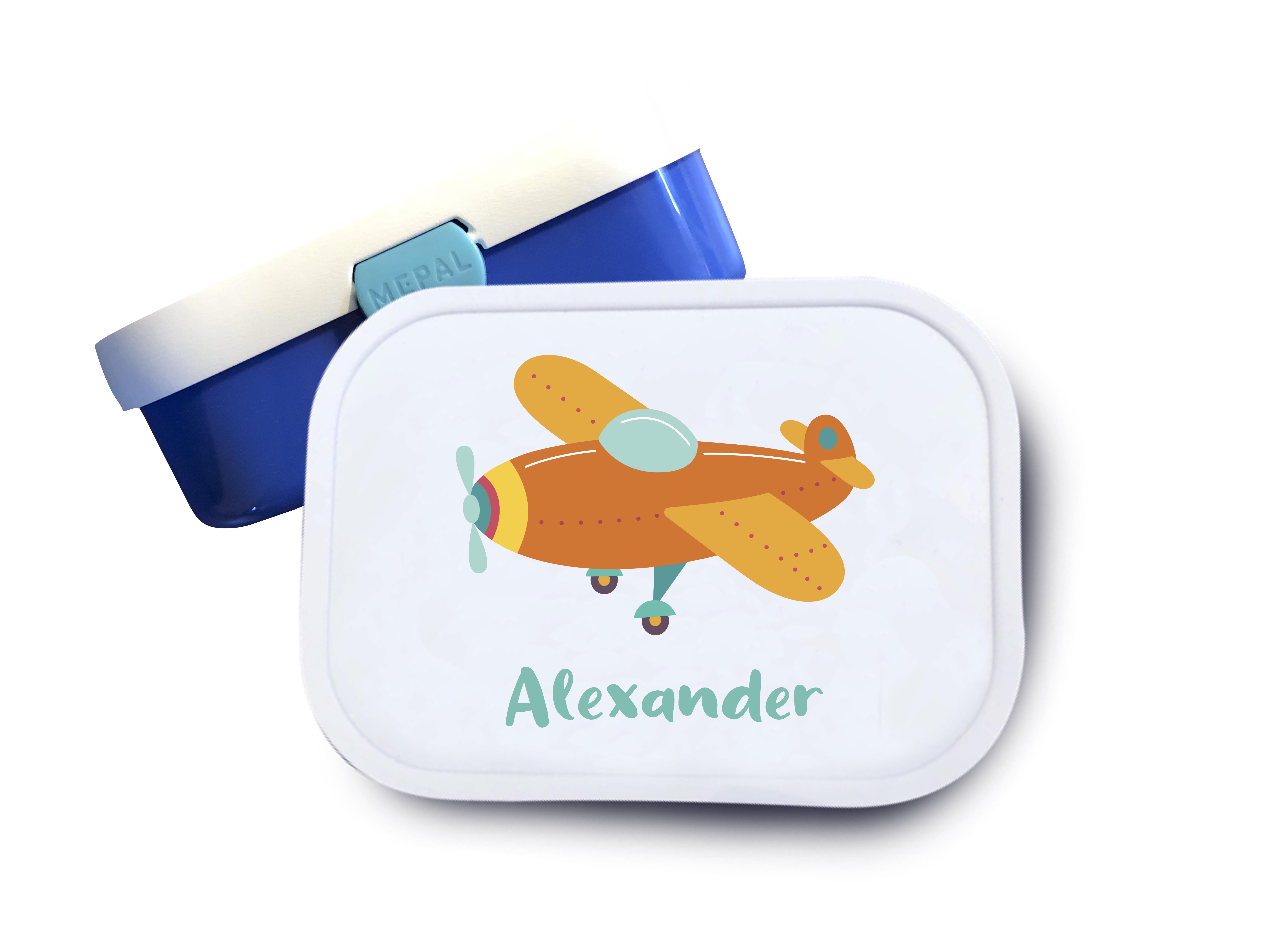 Brotdose mit Namen  Flugzeug