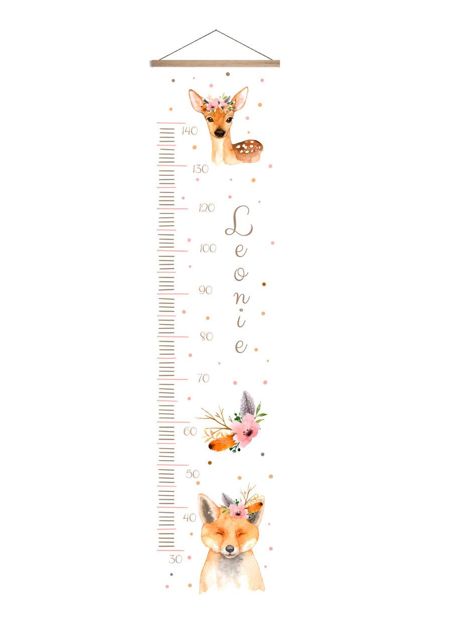 Messlatte Fuchs Boho mit Namen