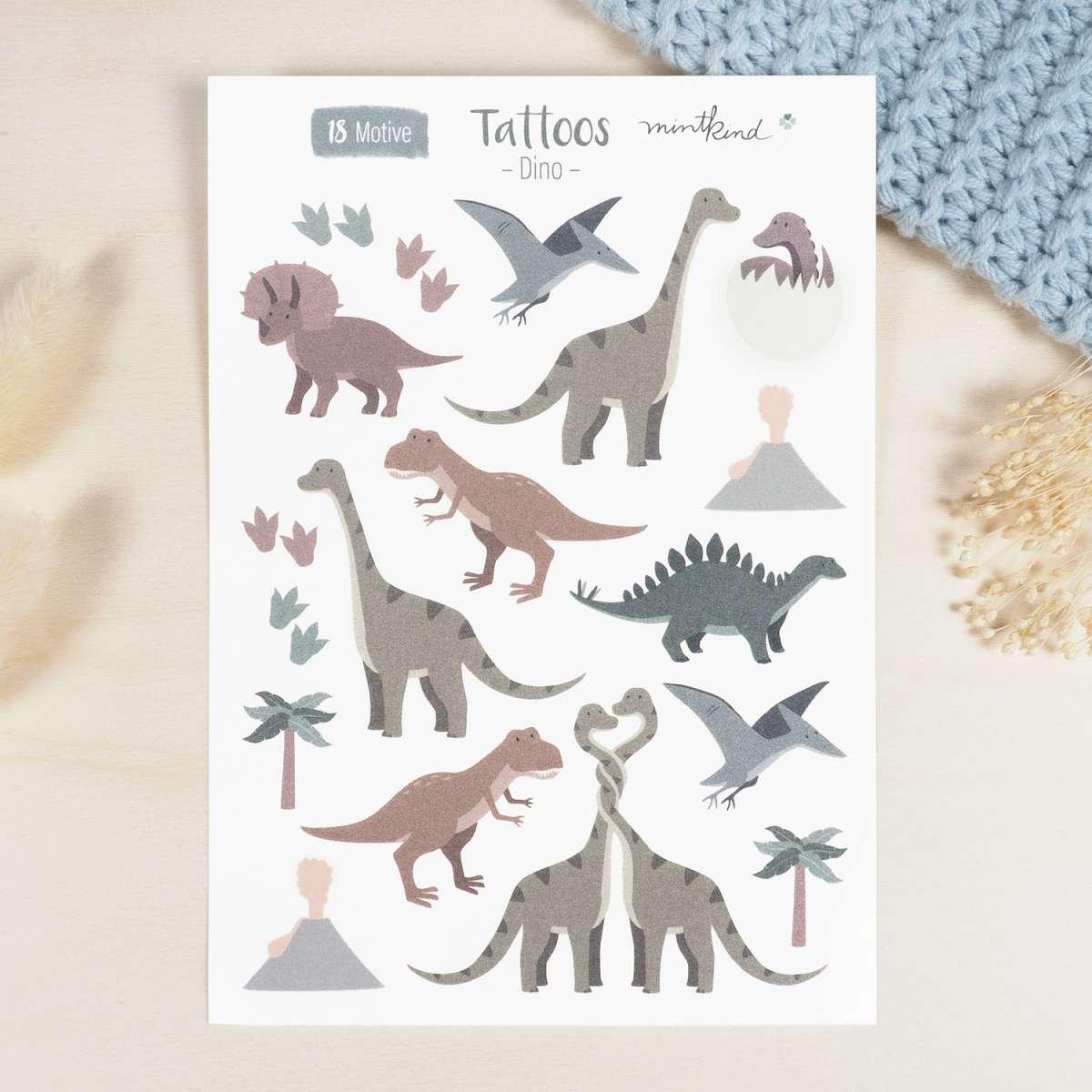 Tattoos für Kinder - Dinosaurier
