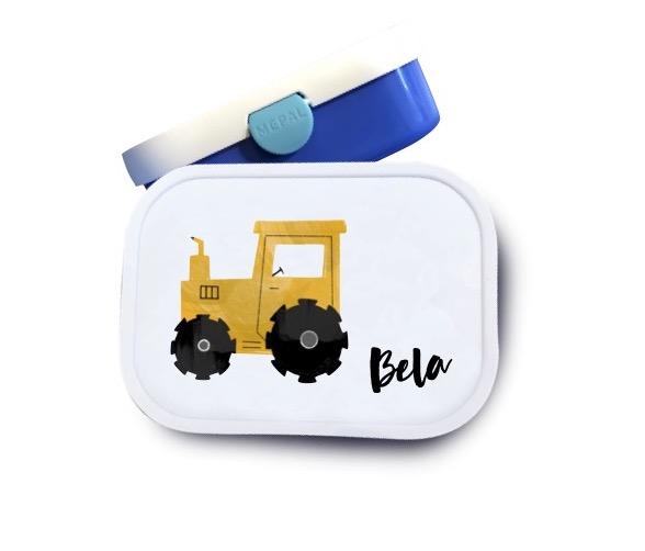 Brotdose mit Namen  Traktor Bela