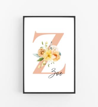 Poster mit Namen Flower Bar