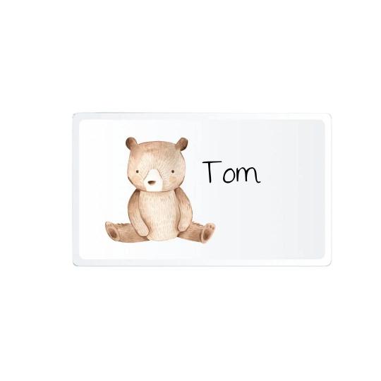 Kindergeschirr mit Namen Bär Tom
